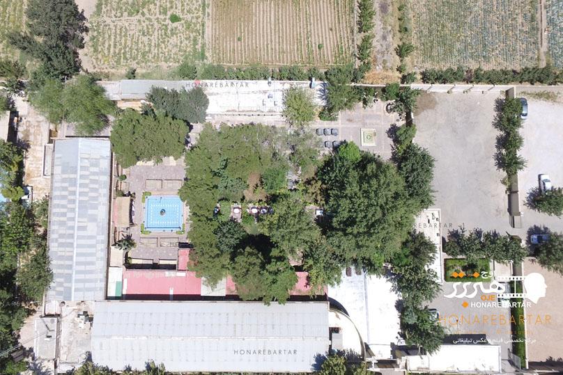 عکس هوایی از یک رستوران در اصفهان