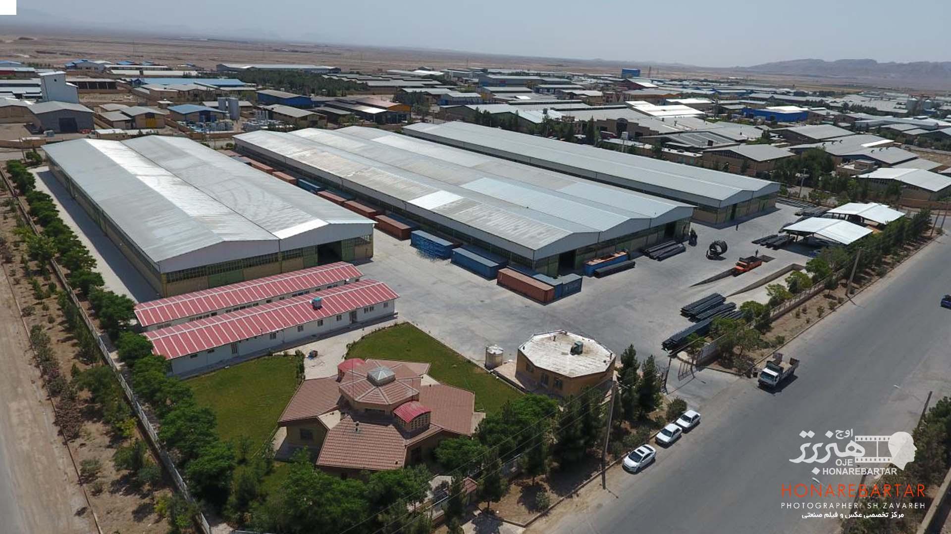 فیلمبرداری هوایی شهرک صنعتی